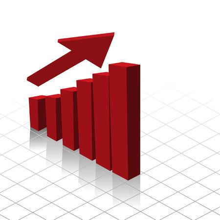 good break: Vector - Gr�fico que muestra el gr�fico de beneficios aumento. �til para las empresas informes. Vectores