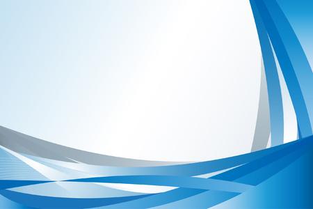 Vector - Azul ola moderna para su uso como patrón de fondos o en las presentaciones Foto de archivo - 4353274