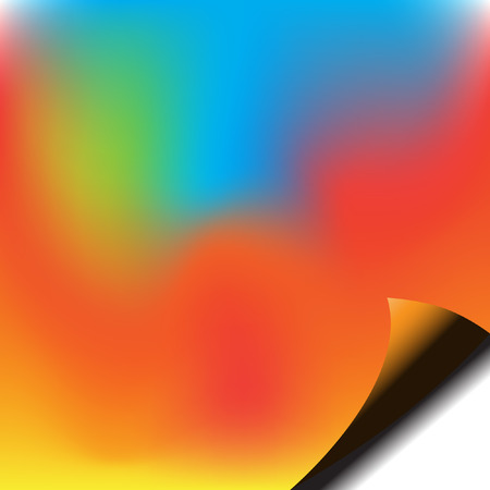 Vector - Colorfull piece of paper with corner curl for background or template use Vector