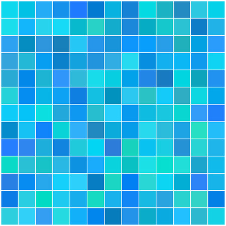 Vector - Colorful multi color seamless square tiles for bathroom, kitchen or background use Illustration