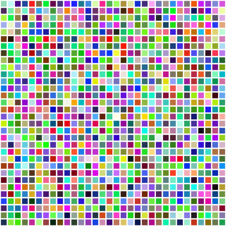 pixel art: Colorful multi color seamless square tiles for bathroom, kitchen or background use
