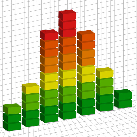high volume: Vector - Illustration of a volume tempo graph mix of high and low sounds Illustration