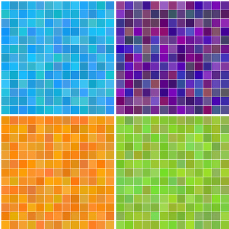 Vector - Colorful multi color seamless square tiles for bathroom, kitchen or background use Ilustrace
