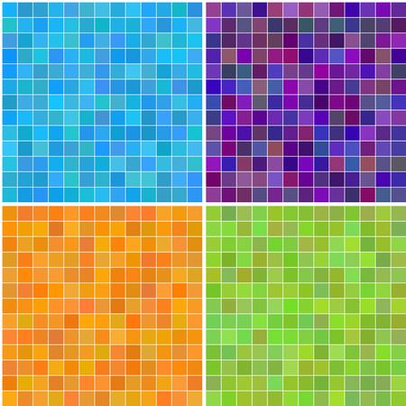Vector - Colorido varios colores sin fisuras cuadrados de azulejos de baño, cocina o el uso de fondo Foto de archivo - 5210092