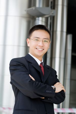 chinese business: Handsome and good looking asian business man smiling