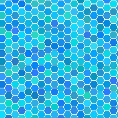 verschillen: Vector - Illustratie van een reeks willekeurige naadloze blauwe tegels met verschillende tint