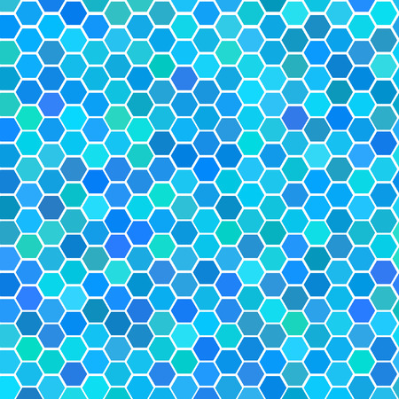 comb: Vector - Illustration of a series of random blue seamless tiles with varying hue