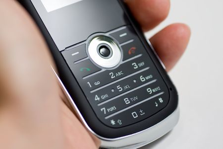 Modern mobile or cell phone for global communication services photo