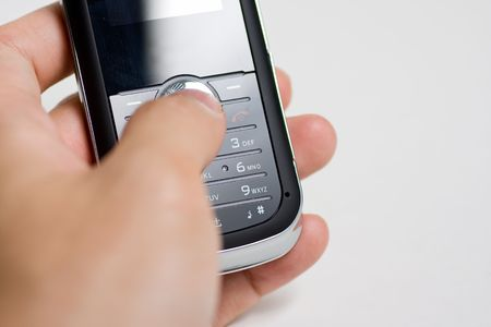 disconnect: Modern mobile or cell phone for global communication services