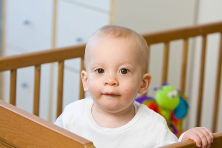 bright eyed: Bright eyed young baby or child with a cheeky smile