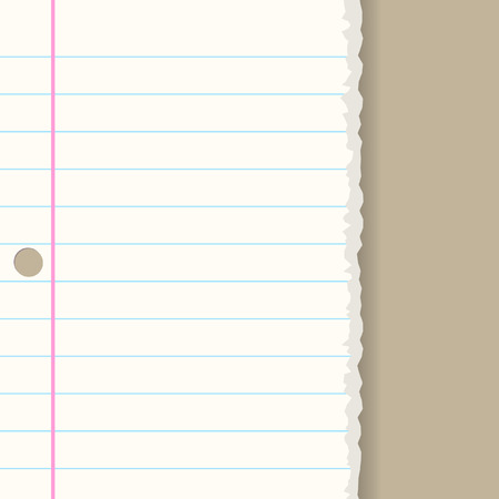 Vector - Ripped paper sheet background with copy space for text Vector