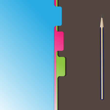 Vector - Document separator or divider with pencil stationery Vector