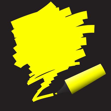 Vector - Illustration of highlighter felt pen with scribble in grunge effect Stock Vector - 5669169