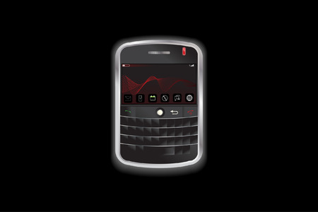 handheld device: Vector - Small electronic handheld phone device