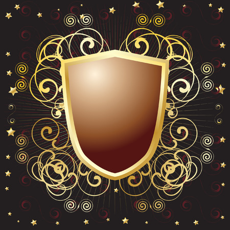 Vector - Royal armor shield with copy space for text Vector