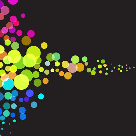 Vector - ilustración de colorido y superpuestas puntos retro que fluye  Foto de archivo - 6381943