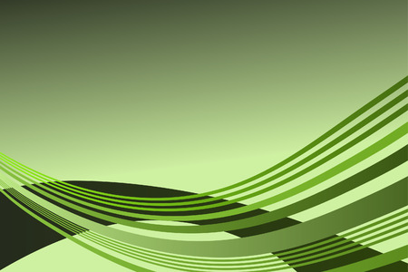 Vector - Wave pattern in lime green for background presentation use Vector