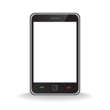 Vektor - Abbildung der eine moderne smart Phone für mobile Kommunikation mit weißen Bildschirm für Text einfügen