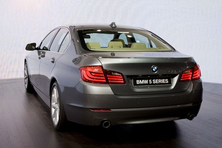 bmw: GENEVA - MARCH 3: BMW 5 series new launch at the 80th International Motor Show on March 3, 2010 in Geneva, Switzerland