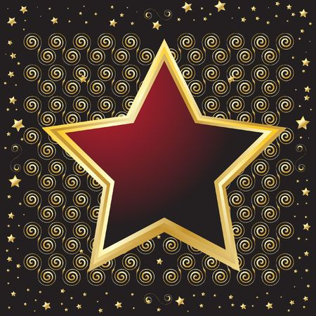Star shaped emblem shield for background use photo