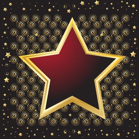 Star shaped emblem shield for background use Vector
