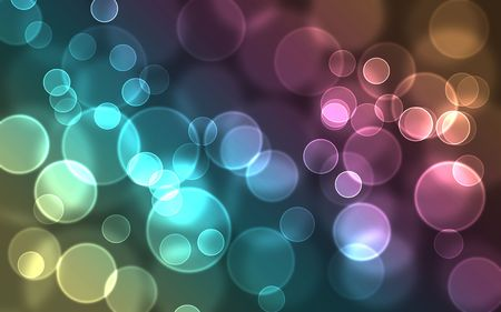 Bright colorful abstract bokeh circles for background use photo
