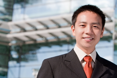 Asian good looking business man in a formal suit with tie Stock Photo - 6811595