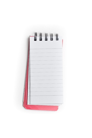 Open white notepad with blank pages for copyspace photo