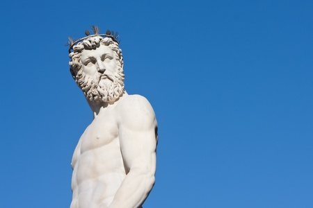 Close up view of neptune against blue sky Stock Photo - 12814561