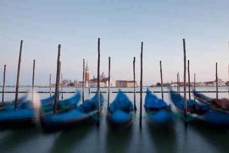 Motion blur gondola in san marco Stock Photo - 13366040