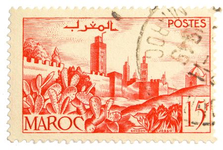 postmark: Vintage postage stamp