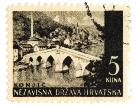 bosnia and hercegovina: Vintage postage stamp