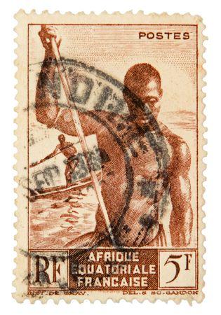 postage stamp: Vintage postage stamp