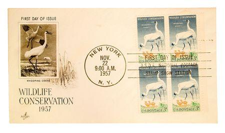 Vintage US post card Imagens