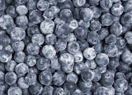 Close-Up of Blueberries Imagens