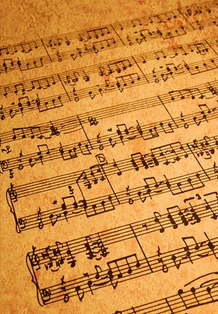 Sheet Music on Parchment