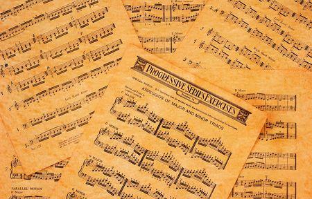 Vintage Sheet Music Achtergrond