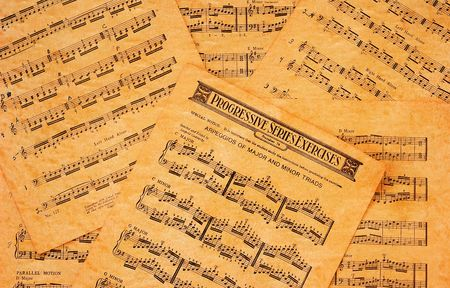 rusty background: Vintage Sheet Music Background