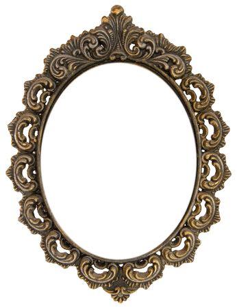 marcos decorados: Ornamentada antiguo marco ovalado