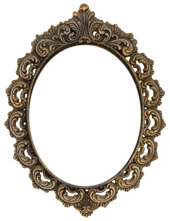 Ornate antique oval frame