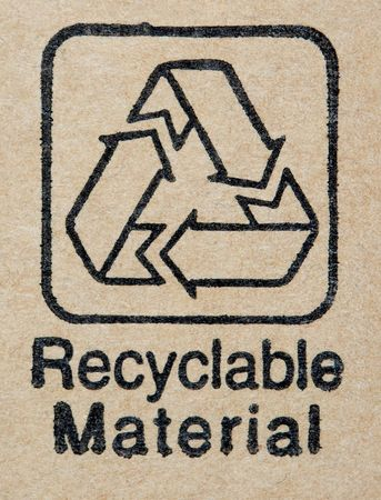 Recyclable Material label Imagens
