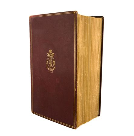 Vintage textbook with gold embossed red cover
