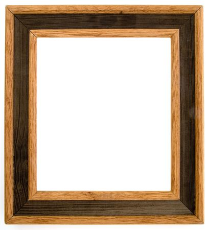 Two tone wood frame on white background