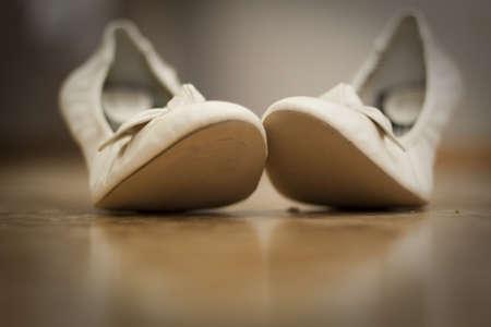 Footwear of bride