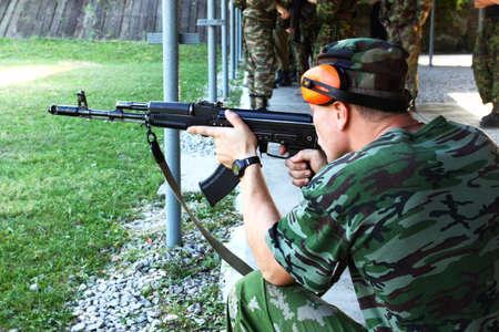 The military sniper runs