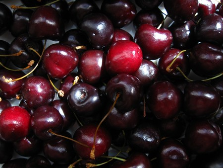 placer: placer ripe berries  cherry used  as  background