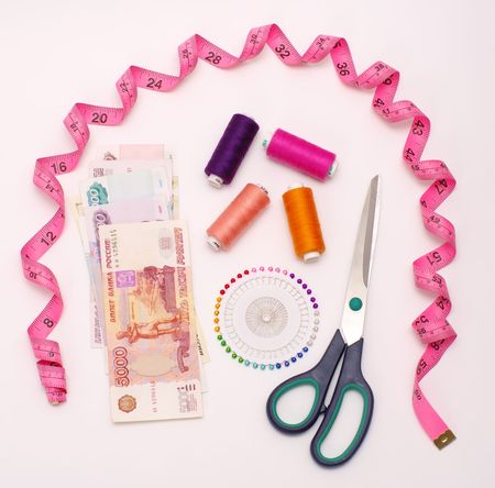 belongings:  money and handiwork belongings