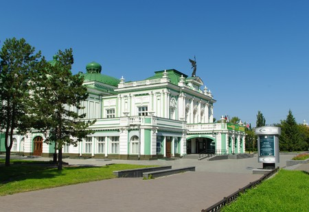 build in:  dramatical theatre Omsk.Russia. was build in 1905.