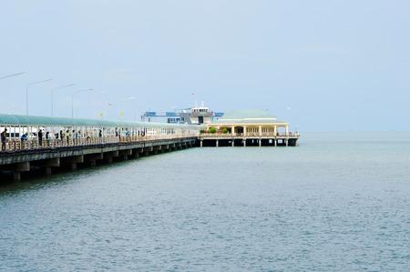 surat: View  Donsak Pier Surat Thani Thailand.