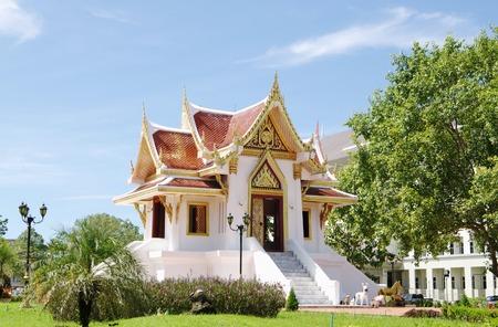 glorification: Buddhist temple Krabi Town Thailand.